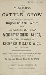 Advert for Worcestershire Sauce